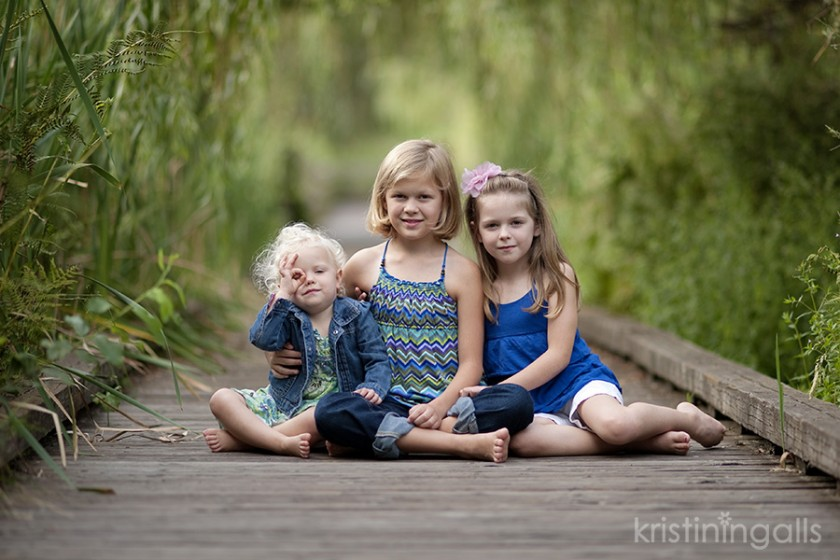 3 Sisters Sitting On A Bridge Photo By Kristin Ingalls