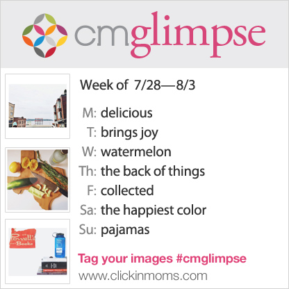 CMglimpse Instagram photo project prompt list for July 28