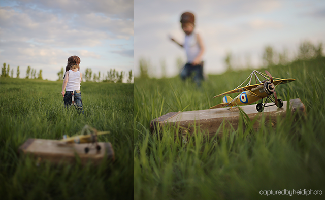airplane inspired child photo session by Heidi Hicks