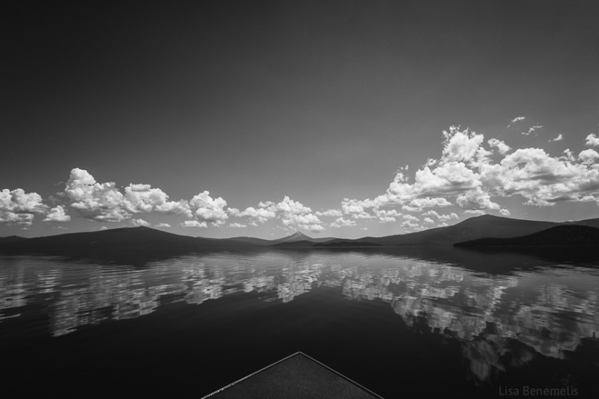 black and white landscape photograph by Lisa Benemelis