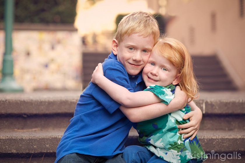 brother and sister hugging picture