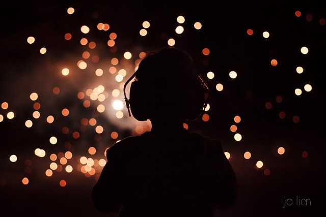 child watching fireworks picture by Jo Lien