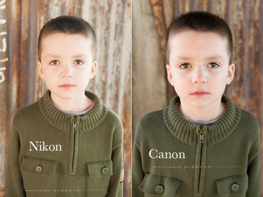 color example comparing nikon to canon