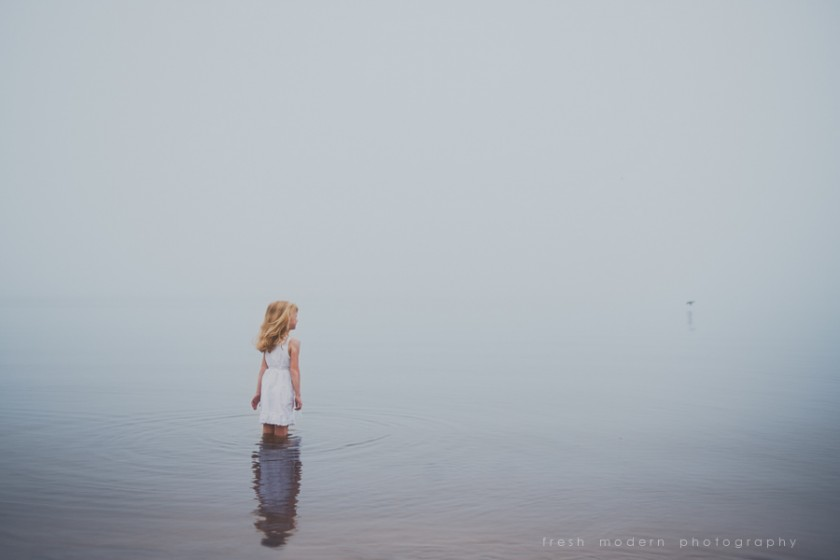 girl standing in water picture by Mickie DeVries