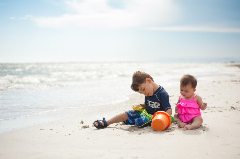 kids on the beach photo by Kelly Rodriguez