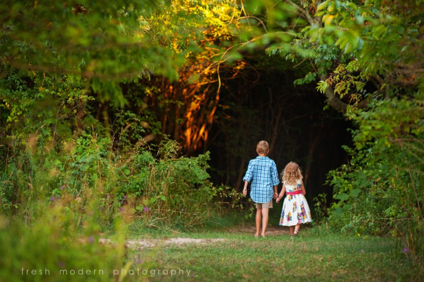 kids walking in field pic by Mickie DeVries