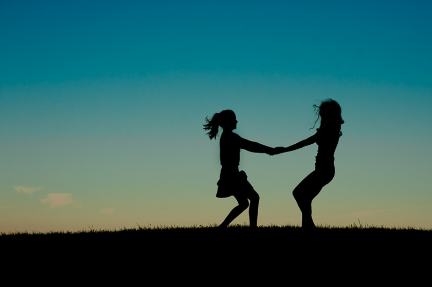 sibling silhouette photo by Kristin Ingalls