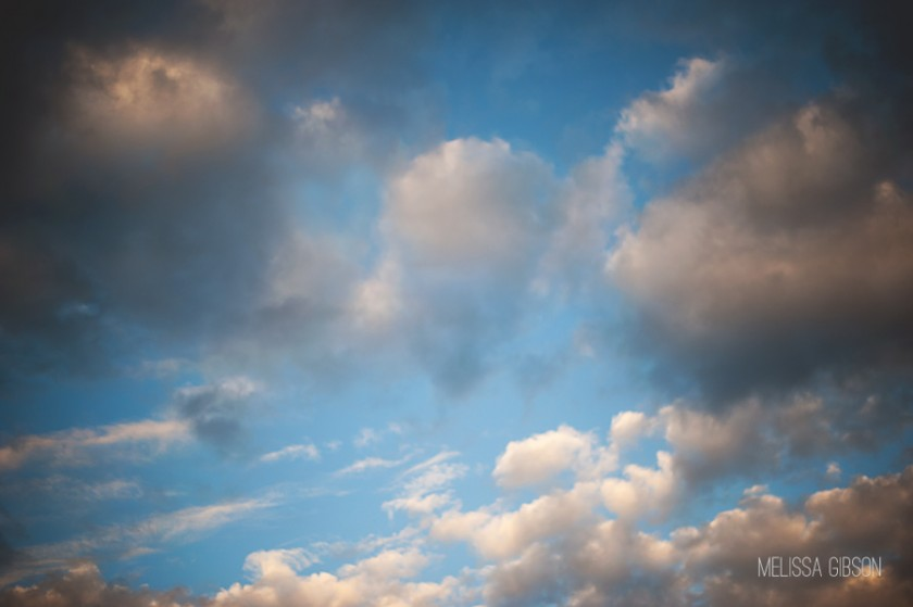 sky and clouds photo by Melissa Gibson