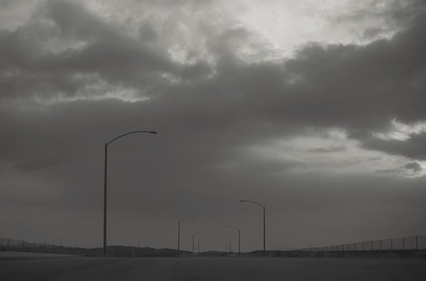 street lights in black and white by Allison Zercher