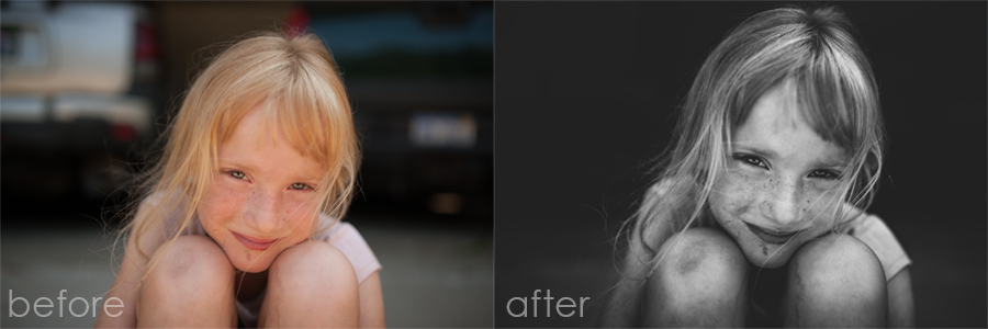 Before and after Lightroom edit by Mickie DeVries