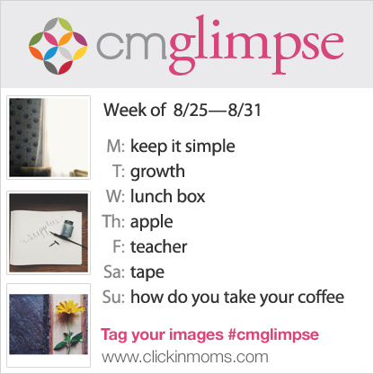 CMglimpse Instagram photo project prompt list for August 25