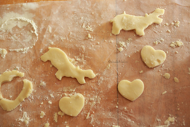 animal and heart cookie dough picture by Liz Behm