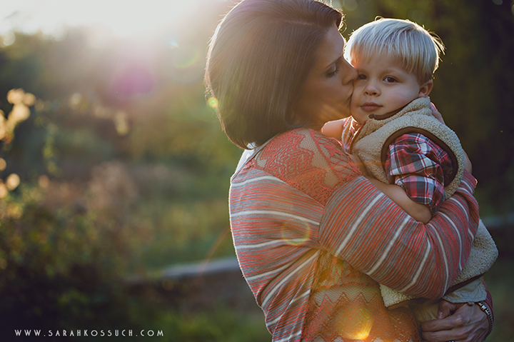 backlit mom and son photo by Sarah Kossuch