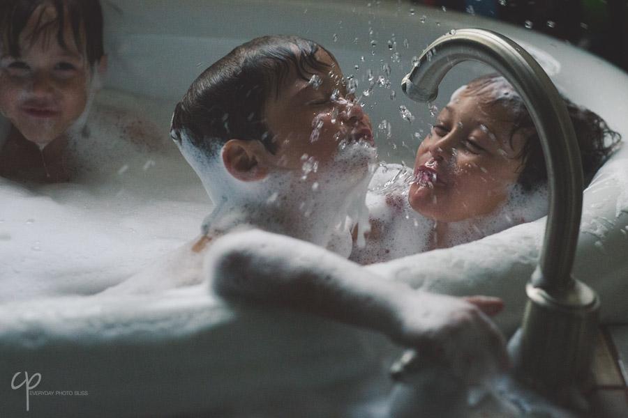 boys taking a bath photograph by Celeste Pavlik