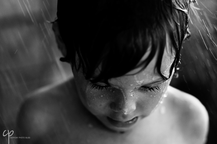 child covered in water photograph by Celeste Pavlik