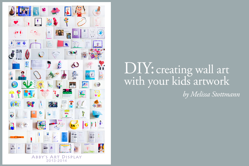 diy creating wall art with your kids artwork by Melissa Stottmann