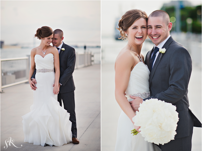 happy bride and groom portraits by Sarah Kossuch