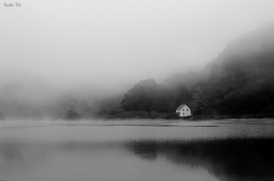 landscape covered in fog photo by Heather Pich