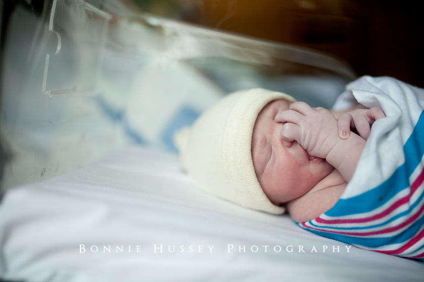 newborn in the hospital photo by Bonnie Hussey