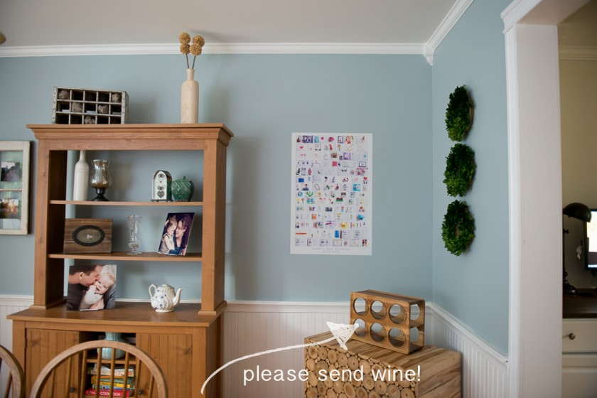 wall cling collage of childrens artwork by Melissa Stottmann
