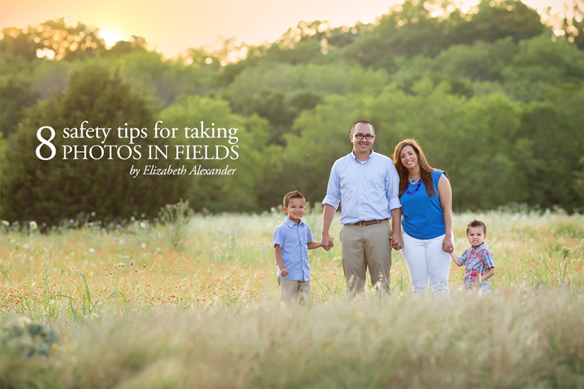 8 safety tips for taking photos in fields by Eliz Alex Photography