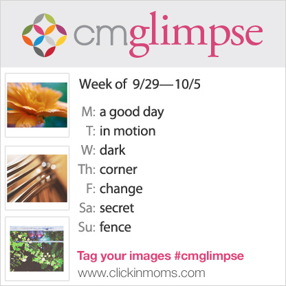 CMglimpse prompt list for Instagram photo project