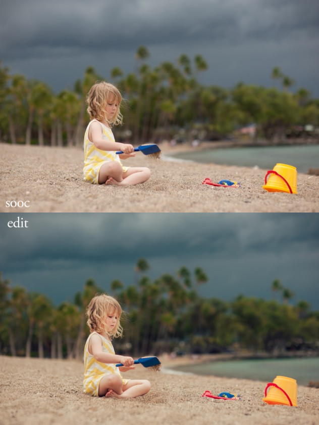 before and after edit in Lightroom by Sarah Vaughn of Story Lane Photography