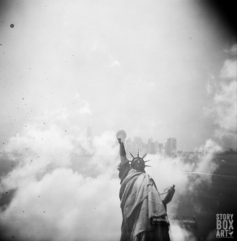 holga photo of the statue of liberty by Alpana Aras