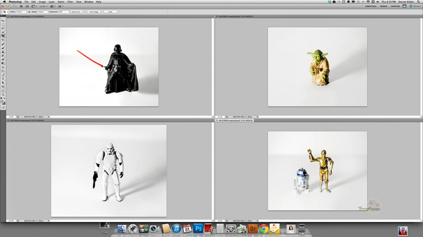 how to edit star wars toys photos