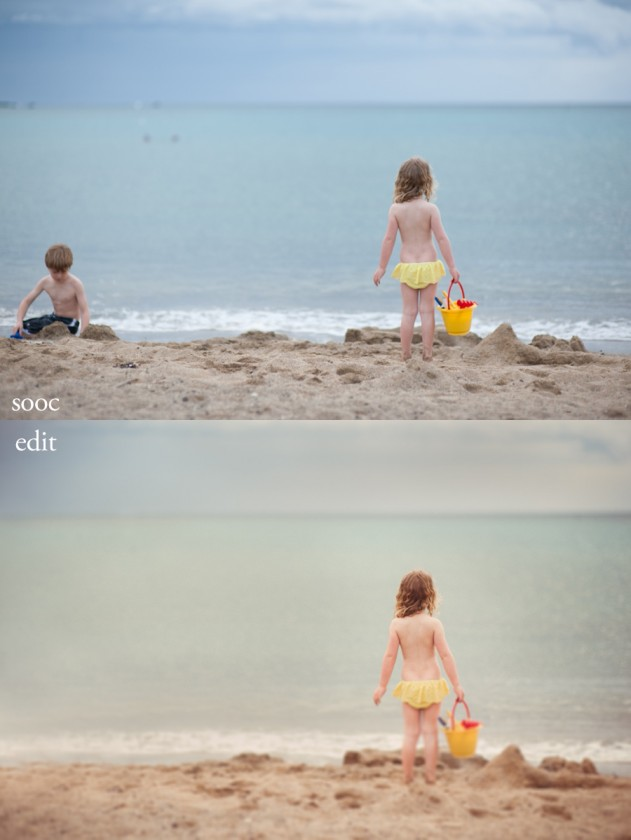 nostalgic picture edit from Hawaii in Lightroom by Sarah Vaughn of Story Lane Photography