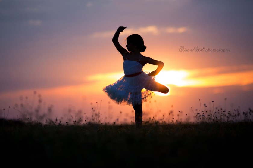 silhouette of girl dancing by Eliz Alex Photography