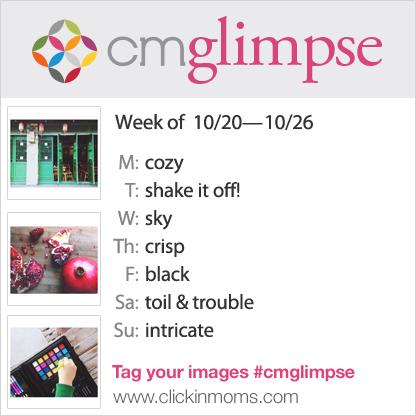 CMglimpse Instagram photo project prompt list for October 20