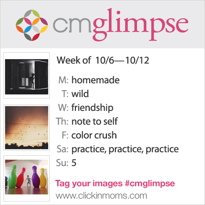 CMglimpse instagram photo project prompt list for October 6