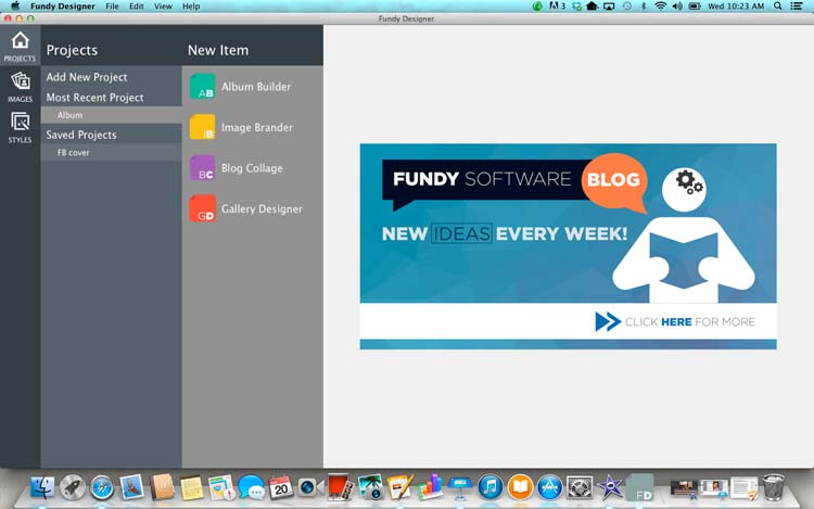 Opening Screen of Fundy Software