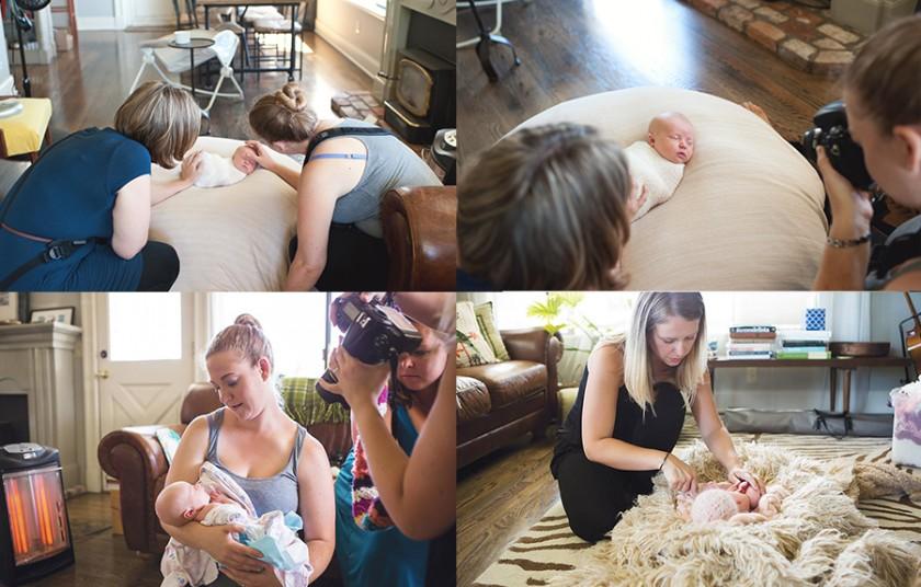 Washington photographers taking newborn pictures
