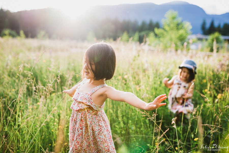 backlit photo in a field of sisters by Felicia Chang