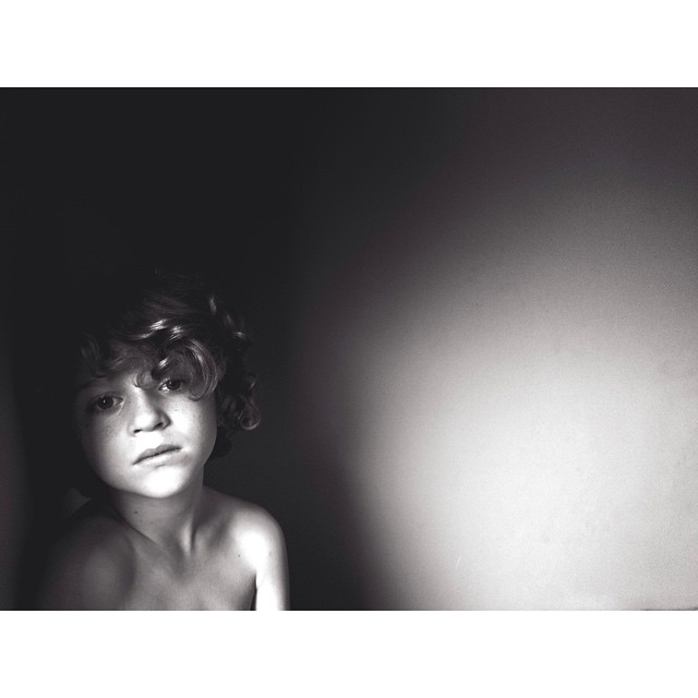 black and white instagram portrait by homemadeinchina