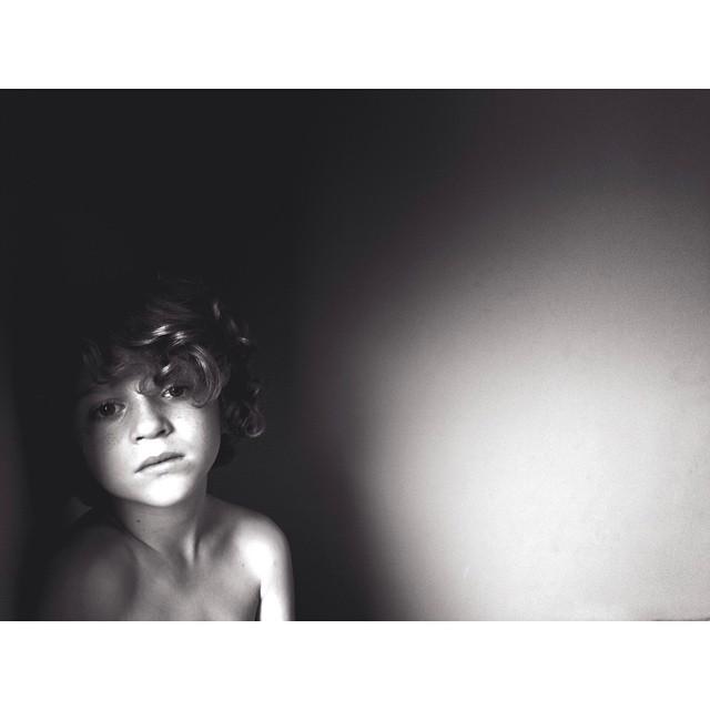 black and white instagram portrait by homemadeinchina