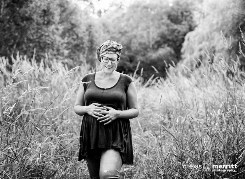 natural light maternity photograph by Alexis Merritt