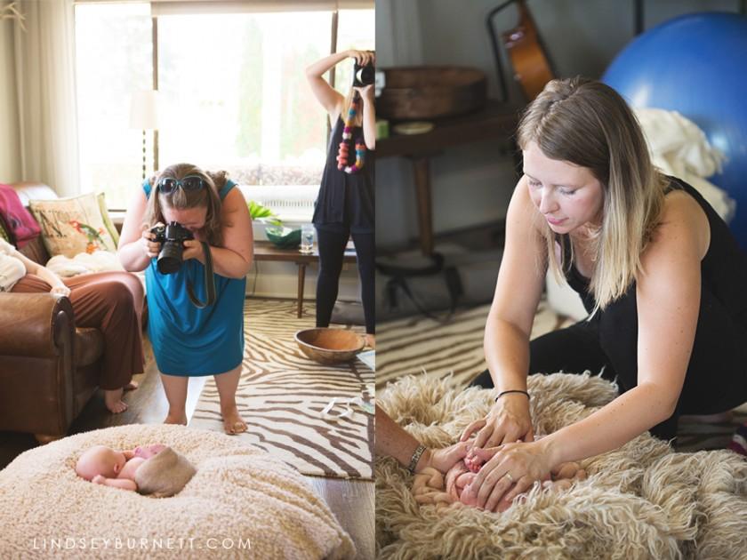 photographing a newborn