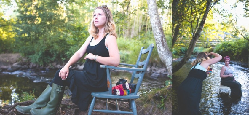 posing and photographing an expectant mom