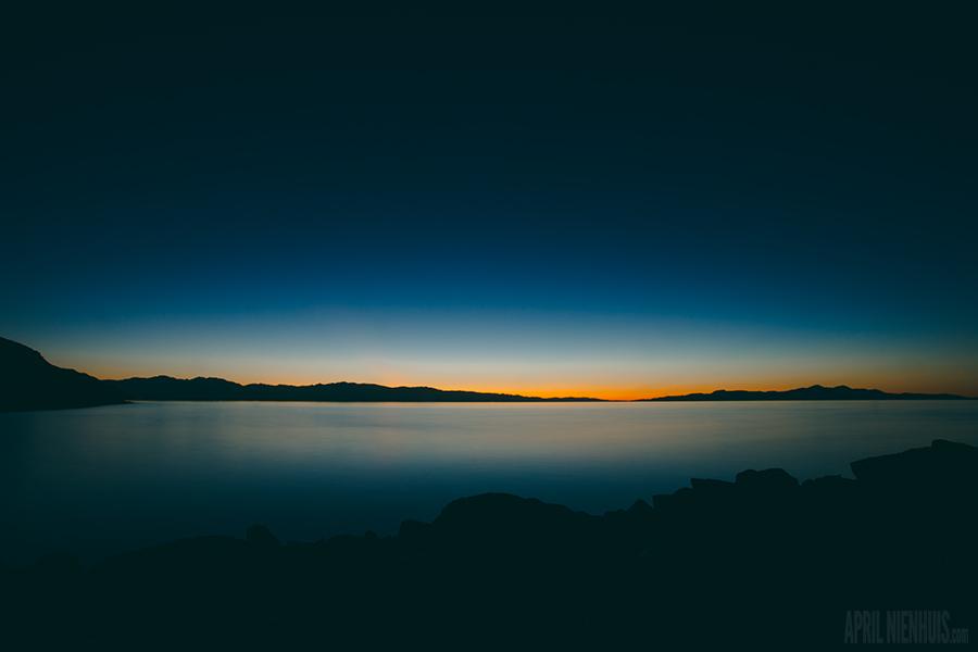 sunset over Salt Lake by Oklahoma photographer April Nienhuis