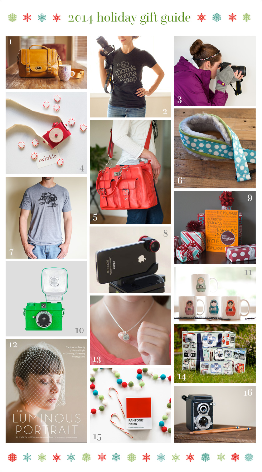 2014 Holiday Gift Guide for photographers from Clickin Moms