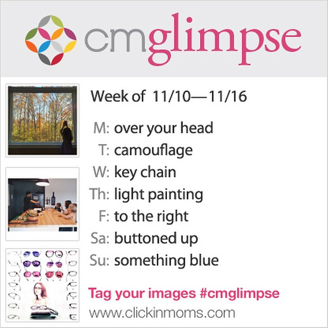 CMglimpse Instagram photo project prompt list for November 10
