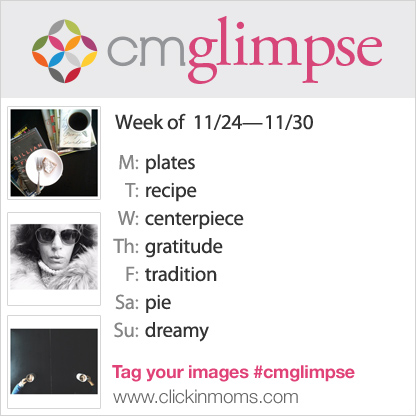 CMglimpse Instagram photo project prompt list for November 24th