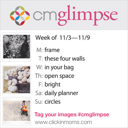 CMglimpse Instagram photo project prompt list