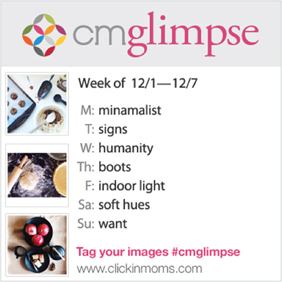 CMglimpse Instagram photo project prompts for November 30