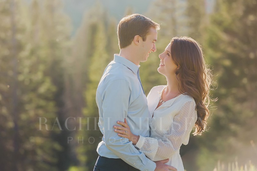 backlit engagement photo by Salt Lake City Utah photographer Rachel Nielsen