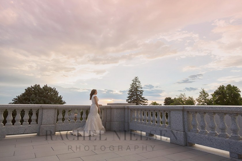bridal portrait by Salt Lake City Utah photographer Rachel Nielsen