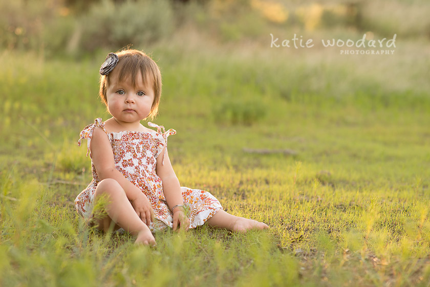 photo of young girl in evening light by Arizona photographer Katie Woodard